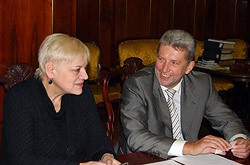 Людмила Тихонова и Александр Вислый