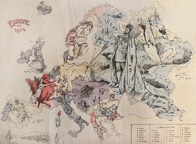 Символическая карта Европы: