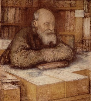Л. О. Пастернак. Портрет Николая Федоровича Федорова, 1919