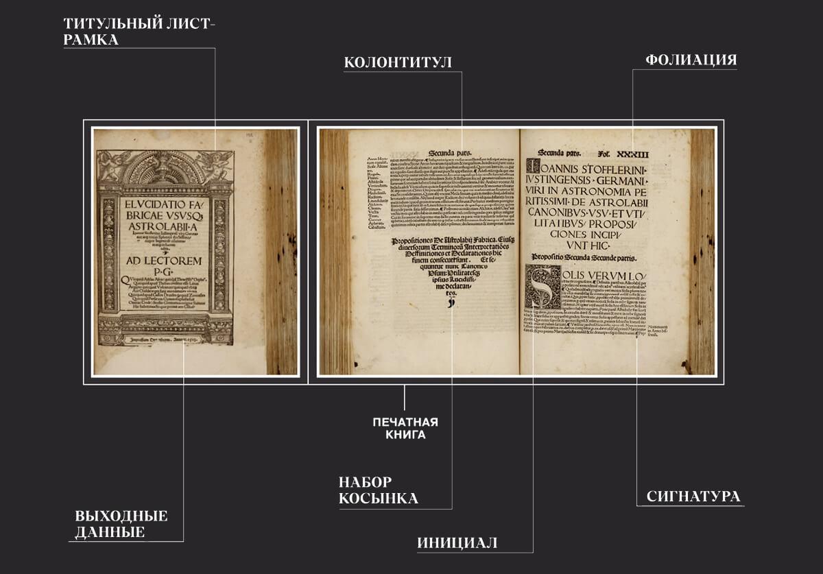 Фрагменты инфографики cвыставки «Библия Гутенберга: начало нового времени»